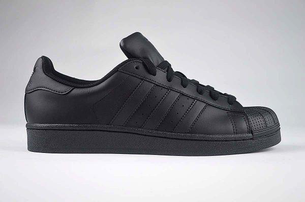 "Adidas Superstar Foundation Mens Trainers Black <span class=""prodcode""><br>AF5666</span>"