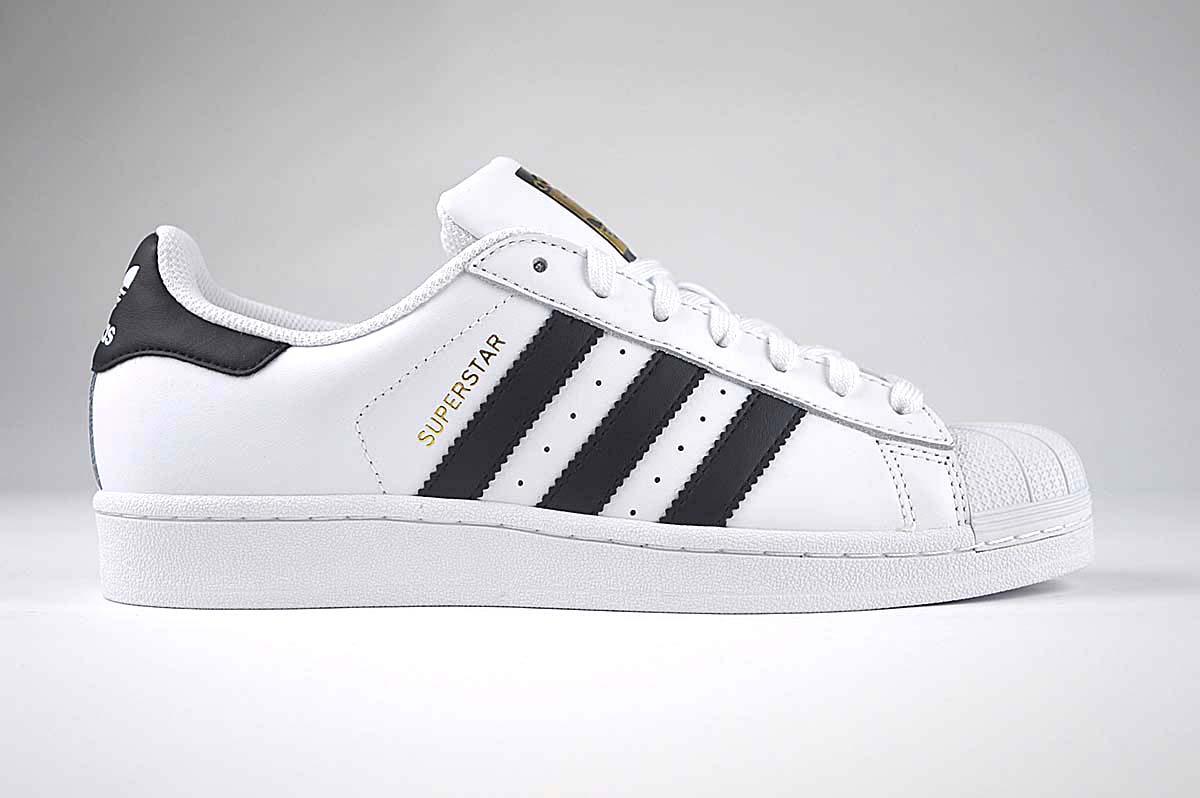 Adidas Superstar Mens Trainers White , C77124